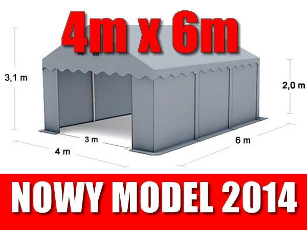 Namiot Magazynowy 4m x 6m - nowy model