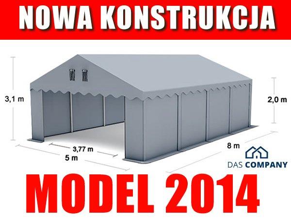 Namiot Magazynowy 5m x 8m - nowy model