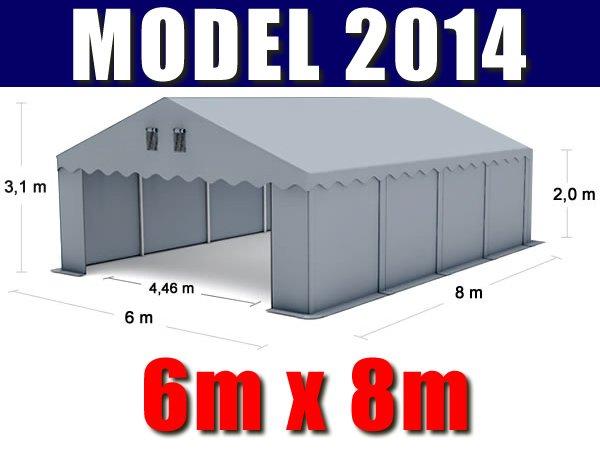 Namiot Magazynowy 6m x 8m - nowy model