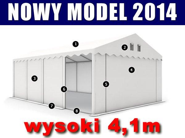 Namiot Magazynowy 4m x 8m PROFESSIONAL - nowy model