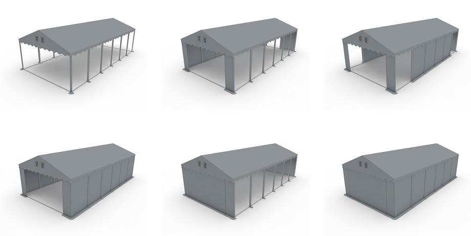 Namiot Magazynowy 5m x 10m  PROFESSIONAL PLUS - nowy model
