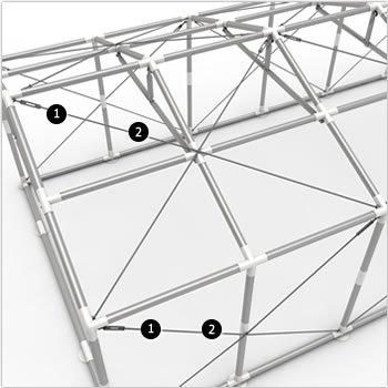 Namiot Magazynowy 8m x 8m  PROFESSIONAL - nowy model