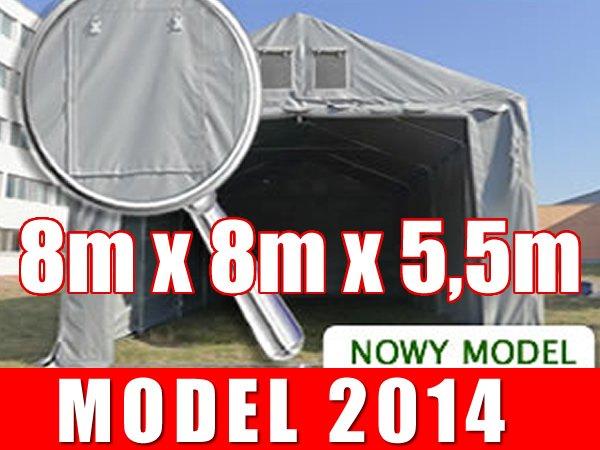 Namiot Magazynowy 8m x 8m  PROFESSIONAL PLUS - nowy model