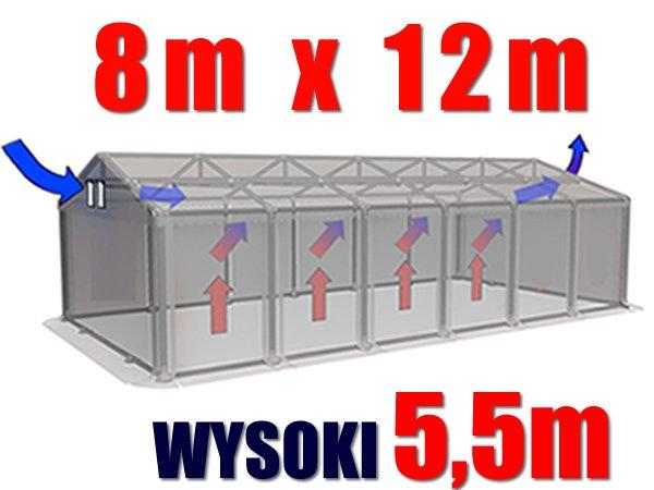 Namiot Magazynowy 8m x 12m PROFESSIONAL PLUS - nowy model