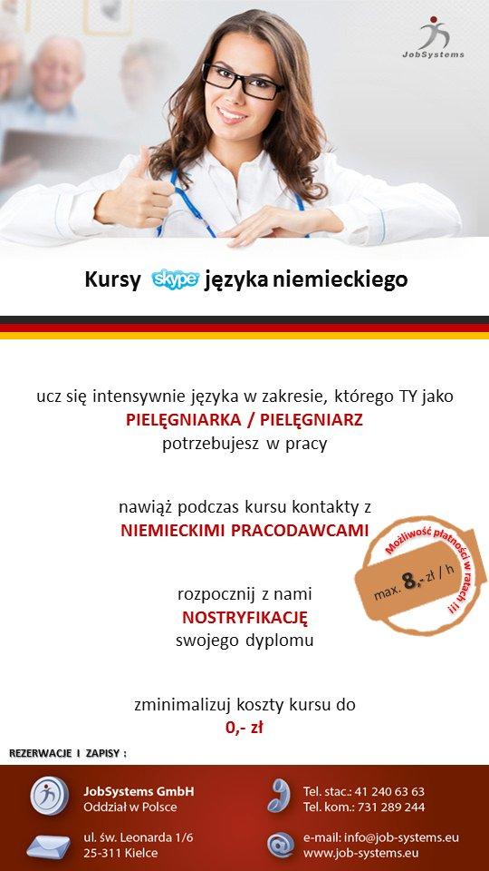 Praca dla absolwentów pielęgniarstwa - kurs j. niemieckiego