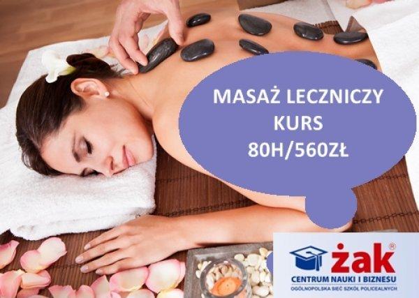 KURS masaż leczniczy certyfikat MEN praktyka+teoria 80h