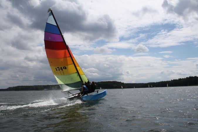 Obóz żeglarski z egzaminem na patent żeglarza jachtowego w Niesulicach