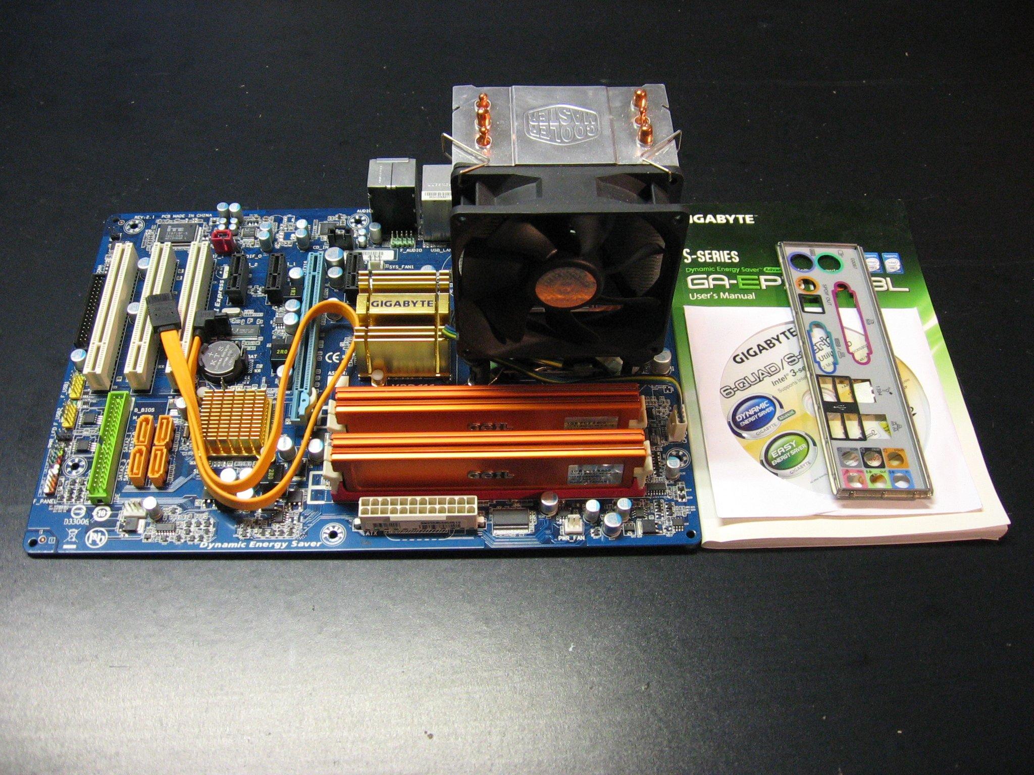 GIGABYTE GA-EP31-DS3L + Intel Core 2 Quad Q6600 2,4GHz + DDR2 4x1GB GEIL 800MHz + Cooler Master Opole AlleOpole.pl