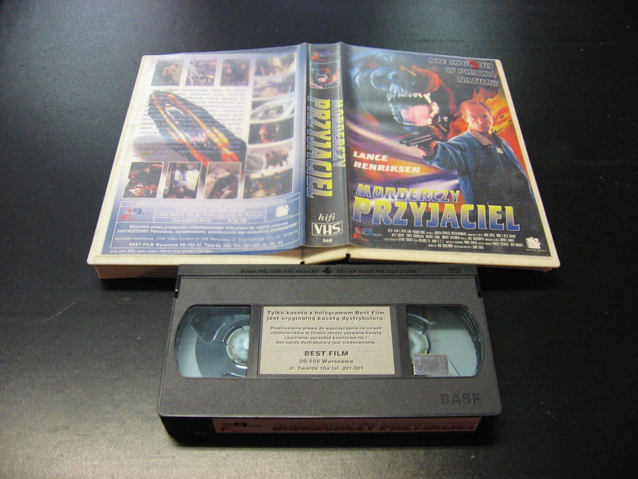 MORDERCZY PRZYJACIEL -  kaseta VHS - 0882 Opole - AlleOpole.pl