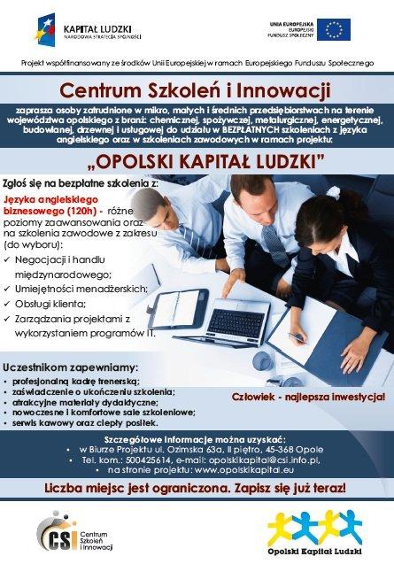 Bezpłatny kurs języka angielskiego w Opolu