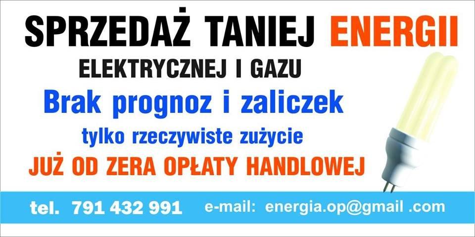 Tania energia dla domu i firm