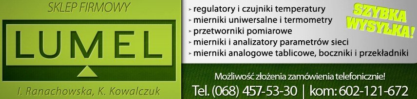 Mierniki, regulatory, termometry. Sklep Lumel
