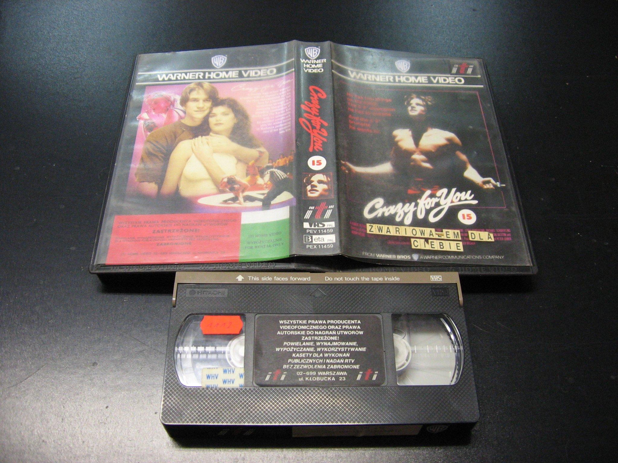 ZWARIOWAŁEM DLA CIEBIE -  kaseta VHS - 0978 Opole - AlleOpole.pl