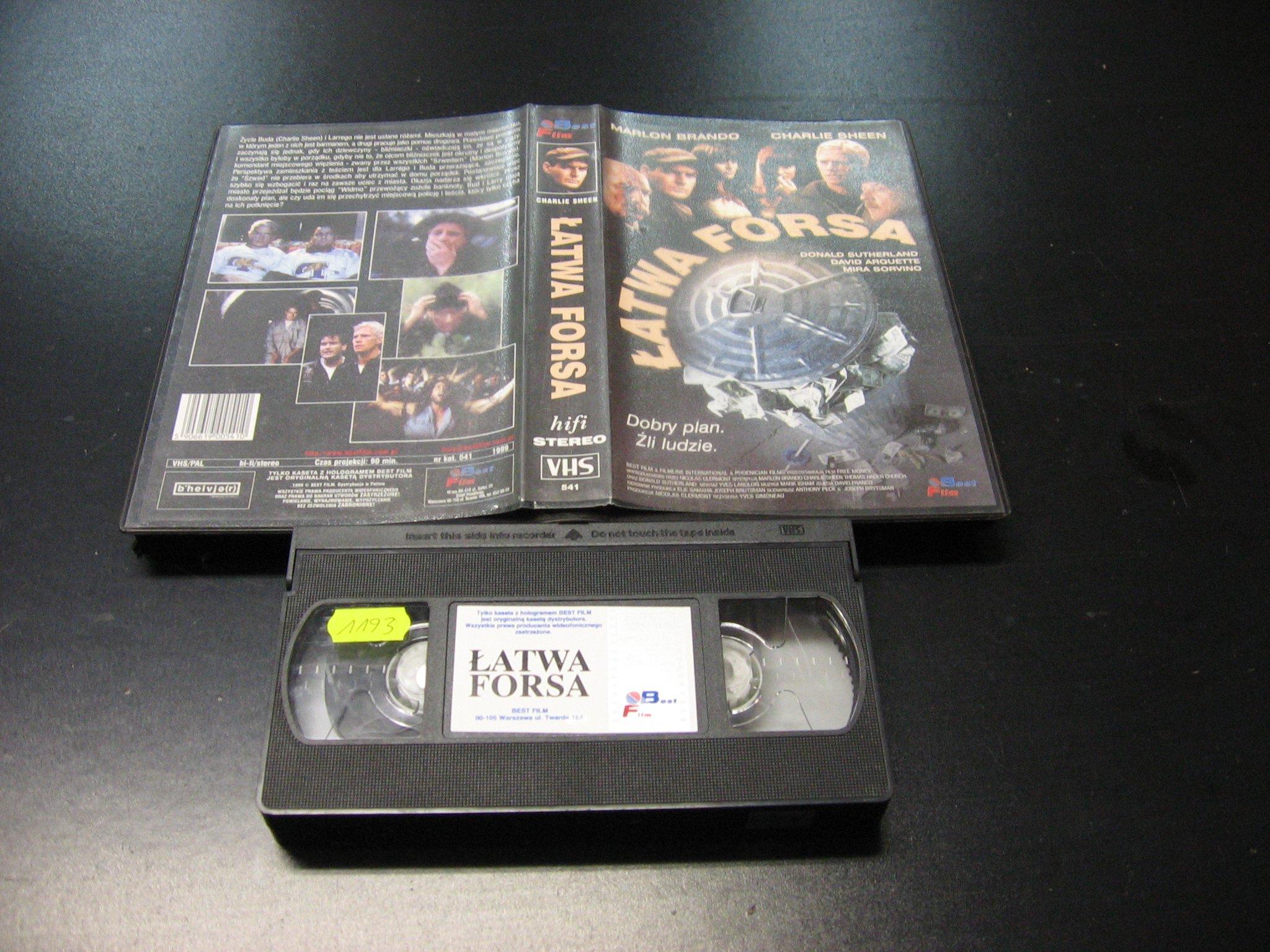 ŁATWA FORSA -  kaseta VHS - 0985 Opole - AlleOpole.pl