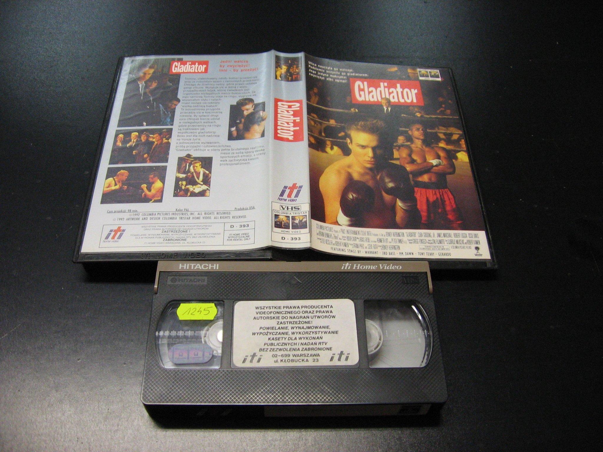 GLADIATOR -  kaseta VHS - 0988 Opole - AlleOpole.pl