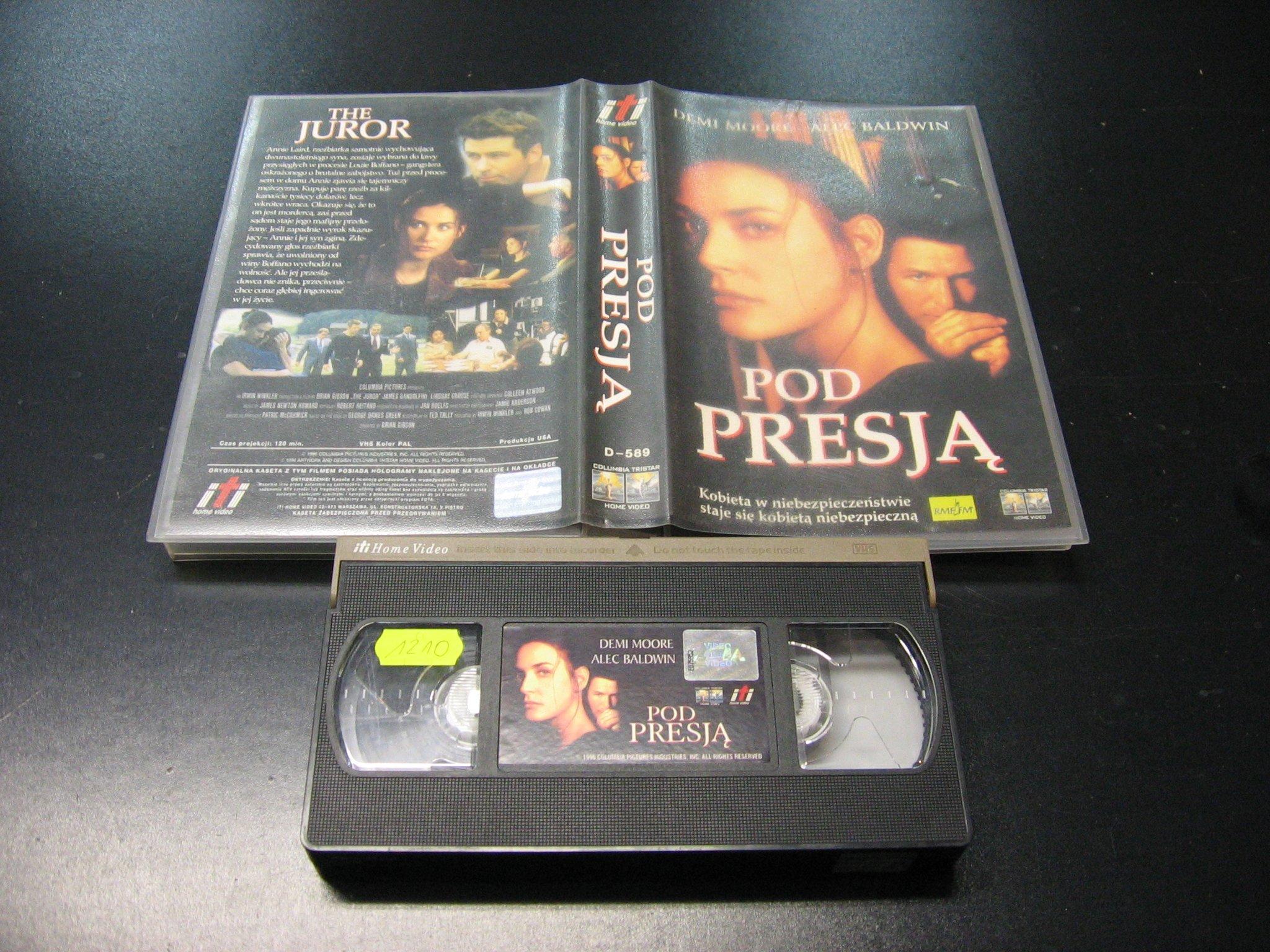 POD PRESJĄ -  kaseta VHS - 0989 Opole - AlleOpole.pl
