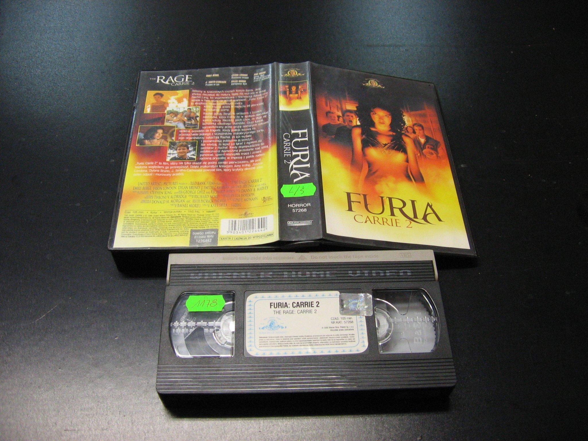 FURIA CARRIE 2 -  kaseta VHS - 1017 Opole - AlleOpole.pl