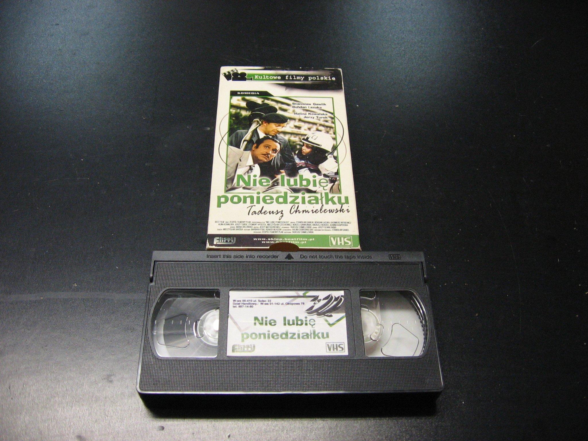 NIE LUBIĘ PONIEDZIAŁKU -  kaseta VHS - 1040 Opole - AlleOpole.pl