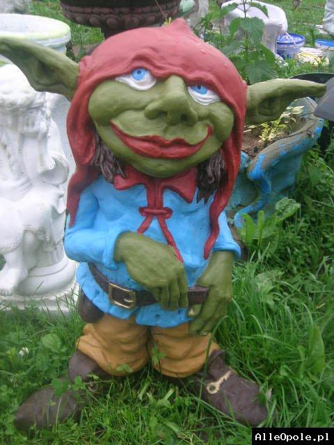 Rzeźba ogrodowa ozdoba do ogrodu figurka Troll