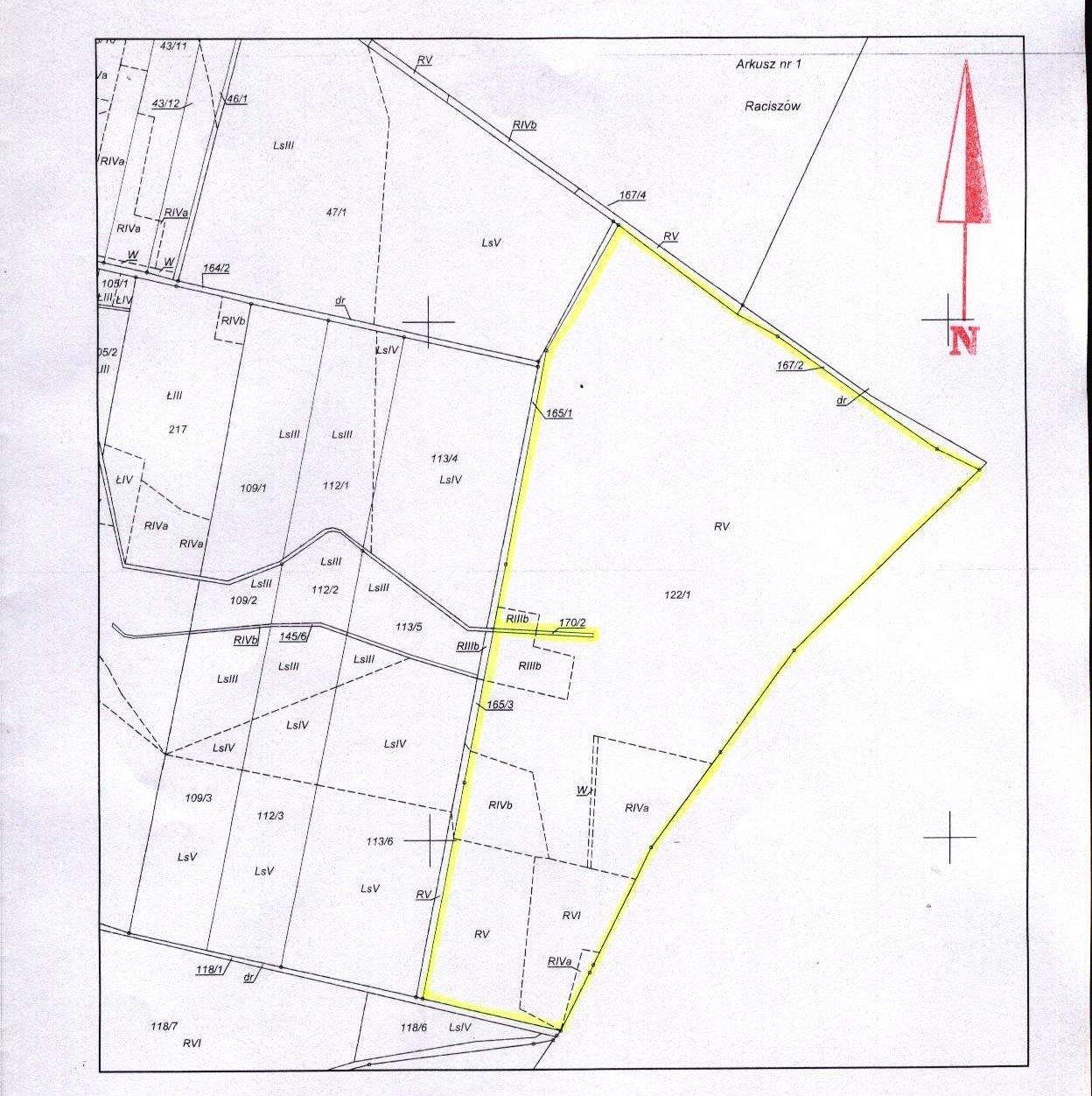 18,79 ha gruntów ornych sprzedam