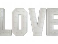 Świetlne litery LOVE z żarówkami LED 150 PRODUCENT