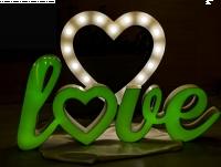 Pisane kolorowe LOVE LED RGB Dekoracja PRODUCENT