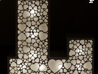 Ażurowe NAKŁADKI na litery LOVE 3D 120cm SERDUSZKA