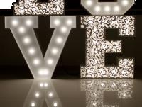 Ażurowe NAKŁADKI na litery LOVE 100cm KWIATY
