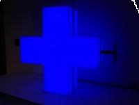 APTEKA reklama 3D świetlna LED KRZYŻ APTECZNY 70cm