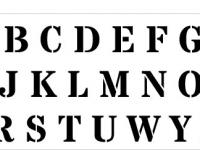 SZABLON malarski ALFABET litery A-Z 3 cm PRODUCENT