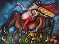 Sprzedam trzy obrazy olejne – Tryptyk Surrealistyczny