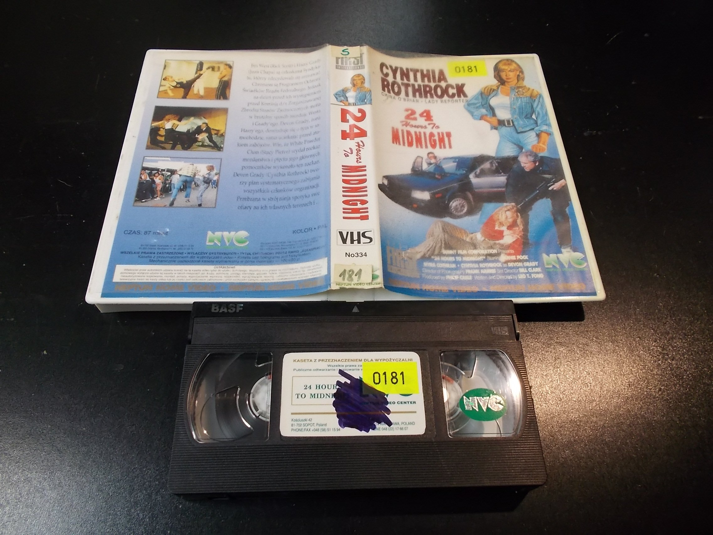 24 HOURS TO MIDNPGHT - kaseta Video VHS - 1376 Sklep