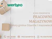 Pracownik Magazynowy - praca stacjonarna w miejscowości Mory, gmina Ożarów