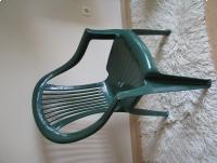 Zielone krzesło ogrodowe na balkon, taras
