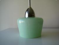 Oryginalna, sufitowa lampa wisząca, szklany klosz, PRL lata 60-te