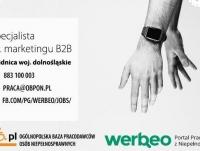 Specjalista ds. marketingu B2B - Świdnica, woj. dolnośląskie