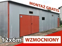 Garaż magazyn blaszany 12x6 wiata hala blaszak w kolorze