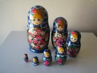 Matrioszka 7 elementów, 21 cm, lalka drewniana, babuszka, ręcznie malowana