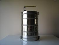4 –częściowa, stalowa  menażka, czworak, pojemnik obiadowy
