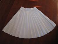 Klasyczna plisowana spódnica, biała, rozmiar 46 / XXL