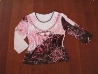 Koszulka damska, bluzka z rękawem 3/4, rozm. M / L cekiny, koraliki