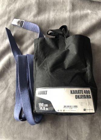 Kimono karate 190cm - raz założone! + niebieski pas