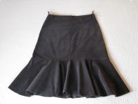Sztruksowa spódnica z kloszem, kloszowana, brąz, rozm. 44