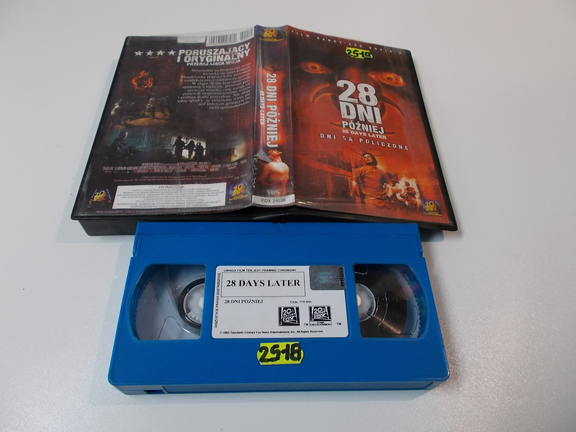 28 DNI PÓŹNIEJ - Kaseta Video VHS - Opole 1584
