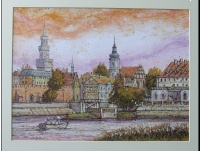Opole.Panorama Starego Miasta.Obraz.