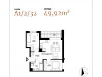 Apartament 3 pok. z loggią
