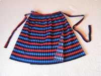 Spódnica plisowana, wiązana jak fartuszek, uniwersalny rozmiar XS - XL