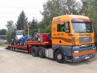 Transport urządzeń maszyn Koparka Ładowarka Spych Forwarder Harwester