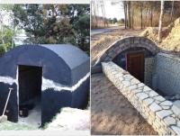 Piwniczka betonowa ziemianka ogrodowa ze zbiornika na szambo