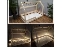 Łóżko dziecięce domek z materacem 160x80 od ręki. Producent